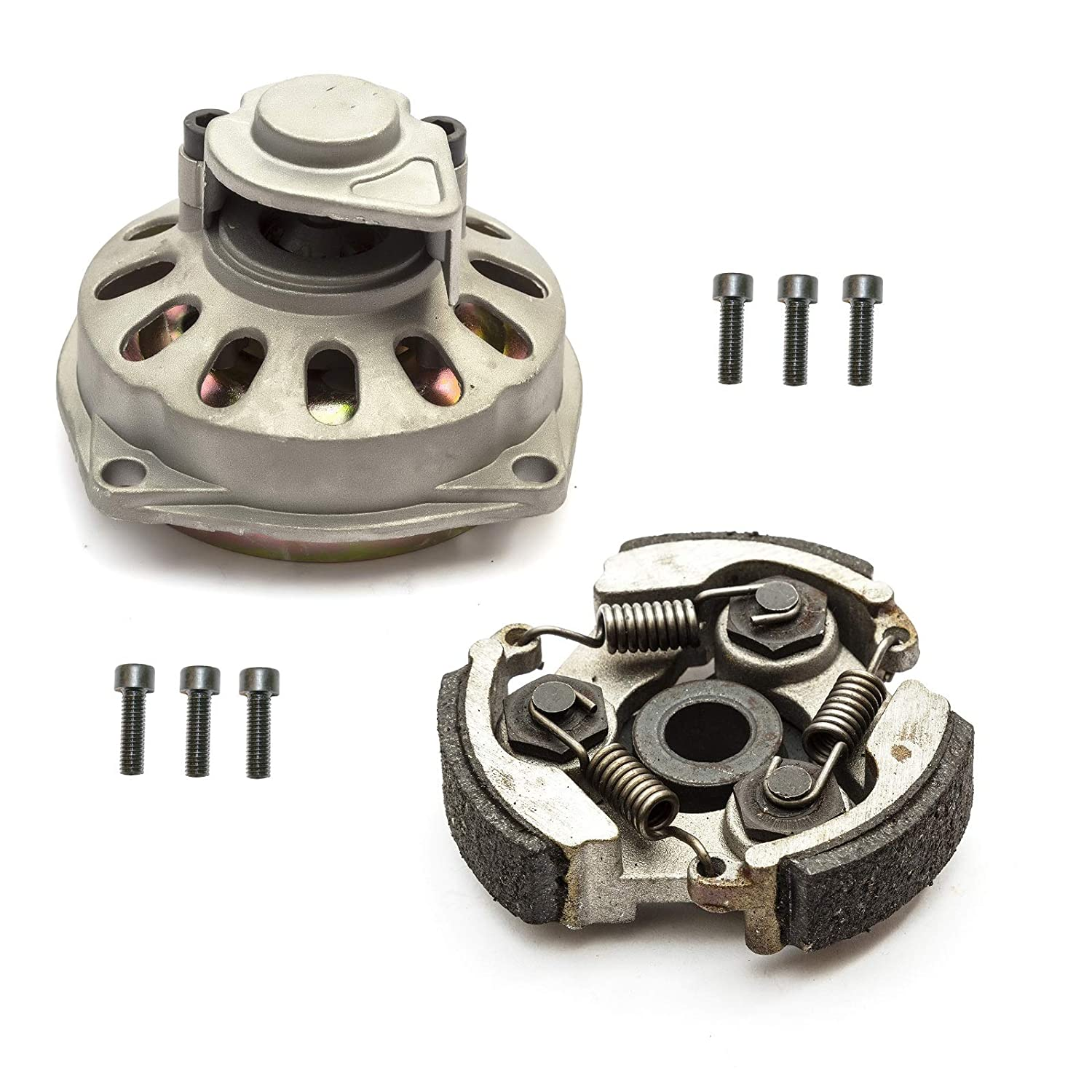 Clutchbell & Clutch Kit 7 Tooth 6mm 47cc 49cc Air Cooled Mini Moto Petrolscooter