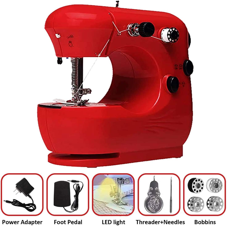 Kytree Beginner Sewing Machine Mini Green Sewing Machine Portable ...