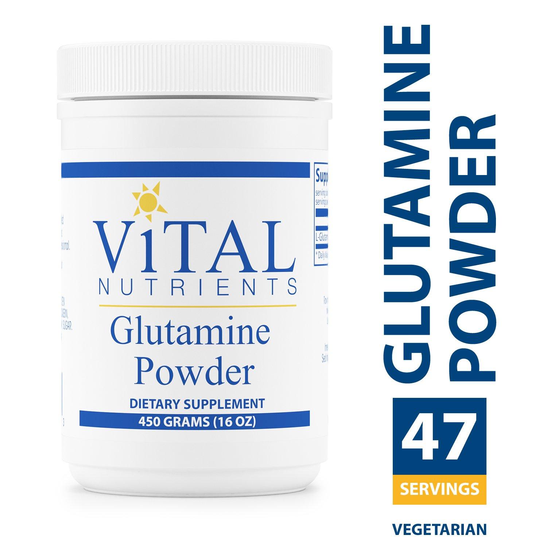 Vital Nutrients - Glutamine Powder - Gastrointestinal and Immune Support - Vegetarian - 450 Grams
