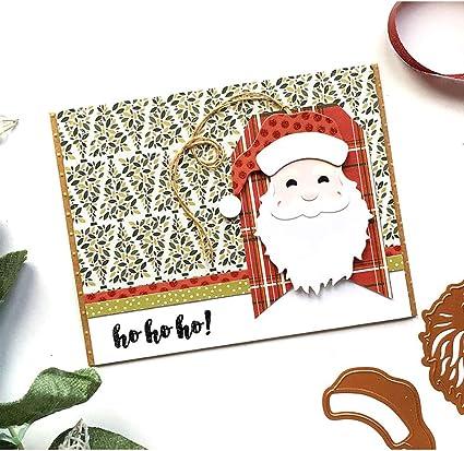 Merry Christmas Santa Claus Stamps Card Making Scrapbooking Dies Metal Cutting