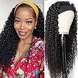 Julia 10A Headband Wigs Curly Human Hair Wigs for Women Glueless Kinky Curly Wigs with Free Headbands,Brazilian Virgin Human