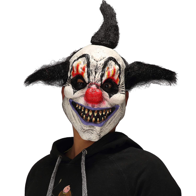 Mo Fang Gong She Scary Demon Halloween Cosplay Props Horror Black Flame Men's Wizard Clown Mask