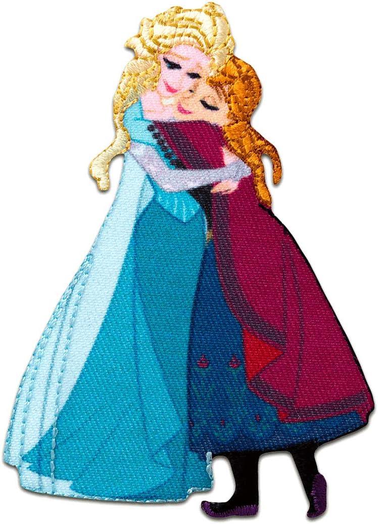 Aufnäher // Bügelbild Disney Frozen DIE EISKÖNIGIN ELSA /& ANNA 1 blau 7x6cm