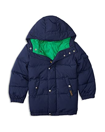 dbeb4c400 Amazon.com: Polo Ralph Lauren Little Boys' Down Puffer Coat, French Navy  (2/2T): Clothing