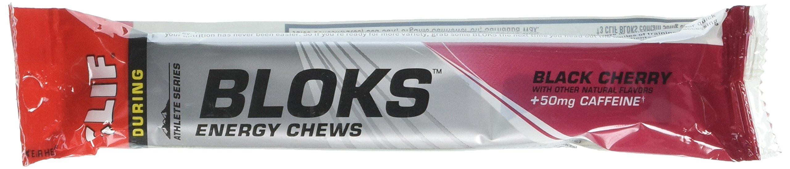 Clif Bloks Energy Chews - 18 Pack - Black Cherry +50mg Caffeine
