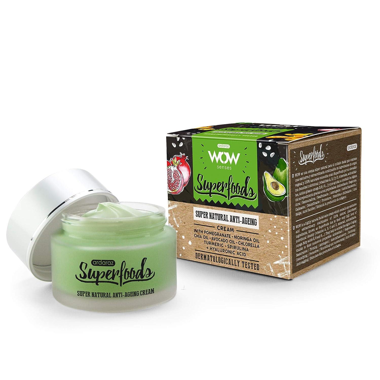 ARDARAZ Crema hidratante facial mujer y hombre Antiarrugas FPS15 con Ácido Hialurónico y vitaminas A, B, C y D, de ingredientes de origen vegetal y ...