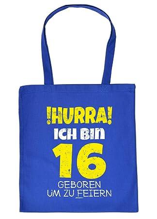 Witzige Geschenk Tasche Zum 16geburtstag Verpackung Hurra Ich Bin