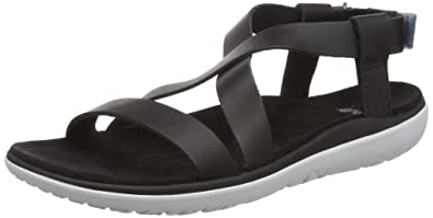 Teva Avalina Crossover Leather W's Damen Sport- & Outdoor Sandalen, Schwarz (Black 513), EU 37