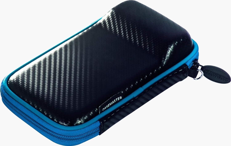 h/ält EIN Set von Dartpfeilen und verf/ügt /über integrierte Aufbewahrung f/ür Fl/üge Casemaster Sport-Dart-Etui Spitzen und Sch/äfte