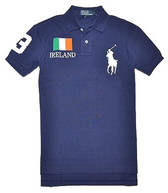 1037d2cc Polo Ralph Lauren Men Custom fit Flag & Big Pony Logo Polo T-shirt ...