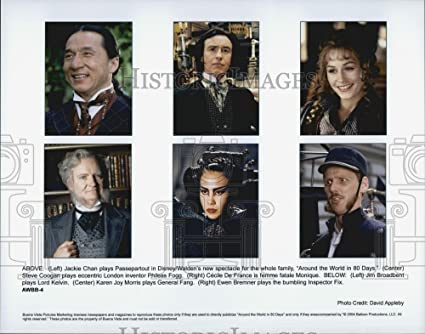 amazon com 2004 press photo jackie chan and cast of around the