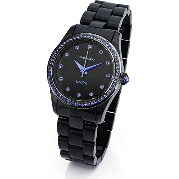 orologio 6127a fe574 Brosway Watches - Orologio Donna T-COLOR Nero e cristalli blue WTC23