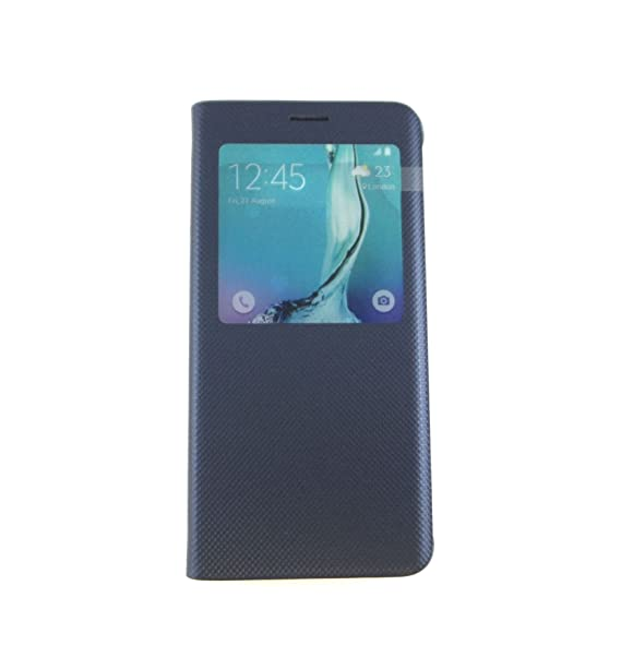 a64f1455bc Image Unavailable. Image not available for. Color: Samsung Galaxy S6 Edge+  S-View Flip Cover Blue EF-CG928PBEGUS