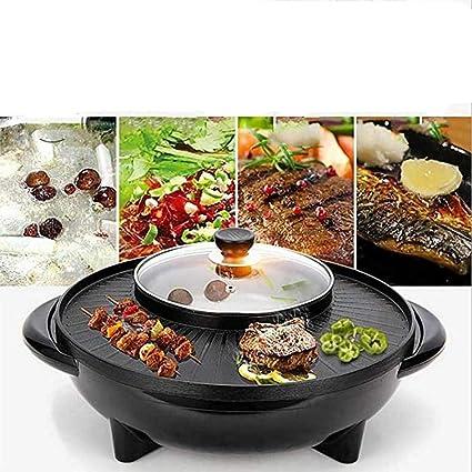 YYO Parrilla Eléctrica Máquina Multifuncional para Asar BBQ ...