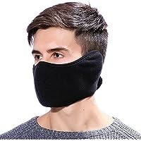 VORCOOL Sci Mezza Maschera Mouth Warmer Fleece Mask Pile in Poliestere Maschere per Snowboard Cycling (Nero)