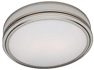 Hunter 83001 Ventilation Riazzi Bathroom Exhaust Fan with Light, Brushed Nickel (Bathroom Vent Fan or Exhaust Fan)