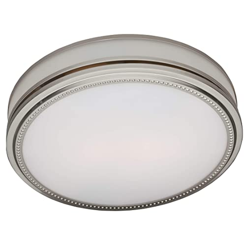 Round exhaust fan with light - Brushed nickel bathroom exhaust fan ...