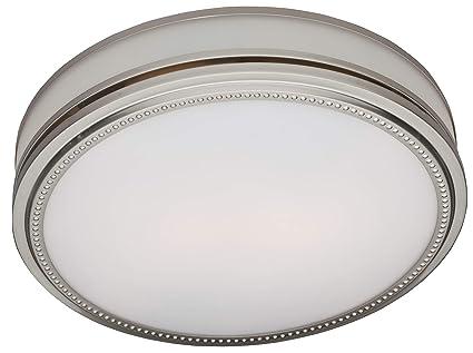 hunter 83001 ventilation riazzi bathroom exhaust fan with light rh amazon com  brushed nickel bathroom exhaust fan with light
