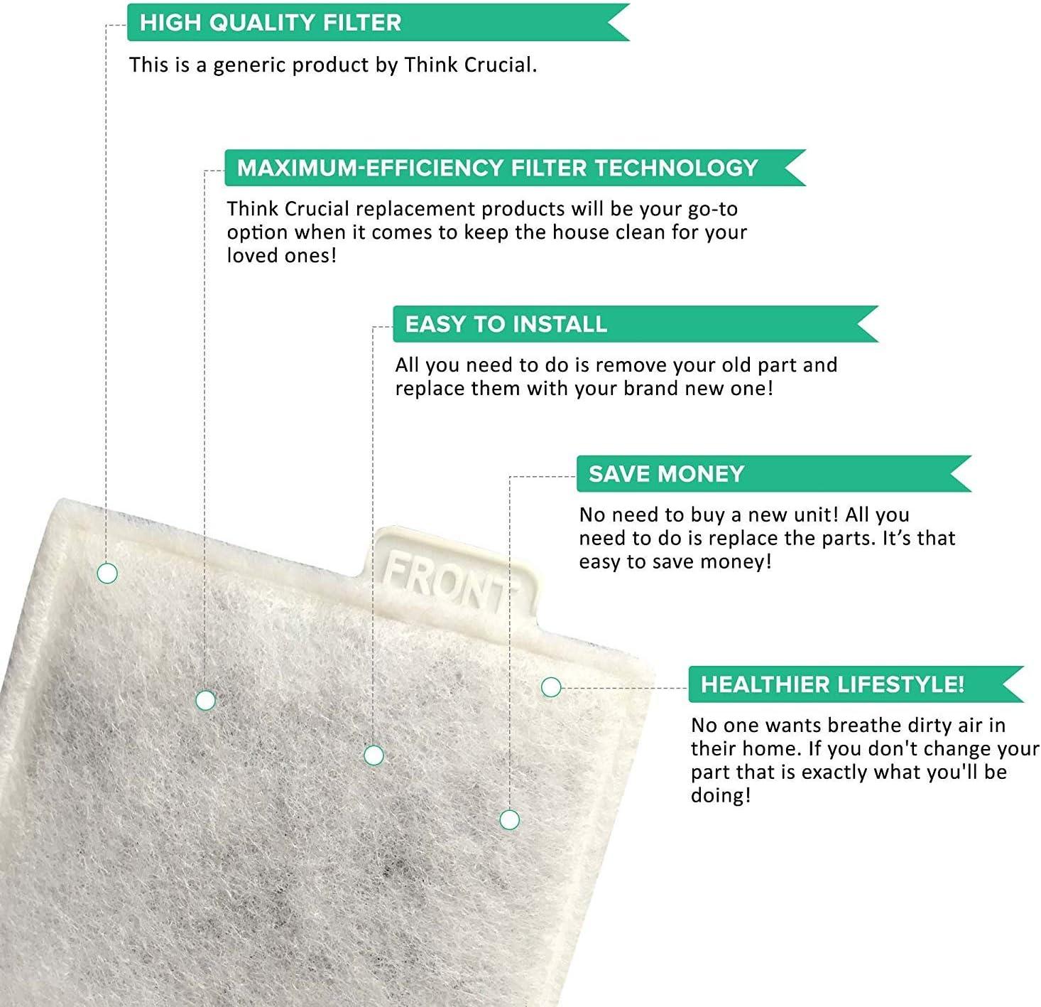Think Crucial Filtro de aire de repuesto compatible con filtro de ...