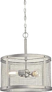 Westinghouse Lighting 6371200 Emmett Three-Light Indoor Pendant Light, Galvanized Steel Finish