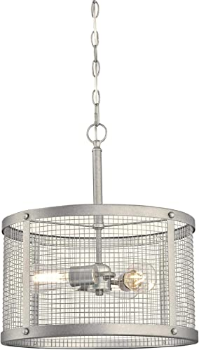 Westinghouse Lighting 6371200 Emmett Three-Light Indoor Pendant Light, Galvanized Steel Finish