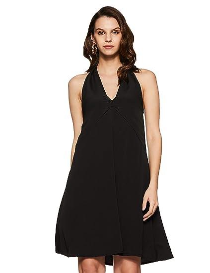 Miss Chase Women s Halterneck Mini Dress (MCPW16D05-69-62-02 Black X-Small 207e2dd1d