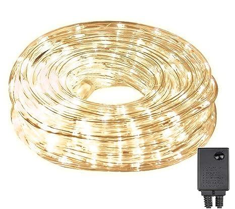 Tubo de luces LED, 10 m, 240 luces LED con 8 modos, para
