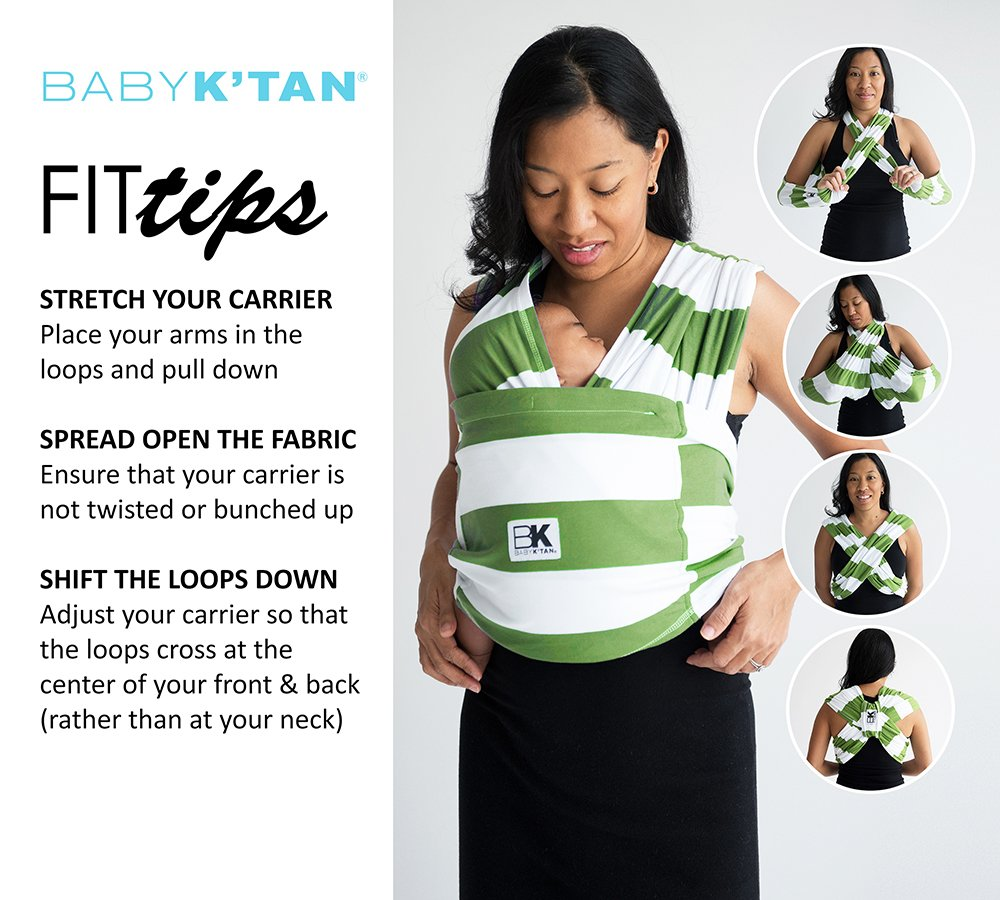 Baby K'tan ORGANIC Cotton Wrap Baby Carrier, Natural, Small Baby K'tan BKBC-NO-S