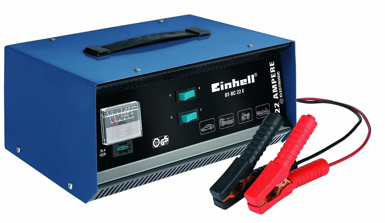 Einhell 10.031 1BT-BC 22 E - Cargador (12 V) para baterías de Plomo de 5-300 Ah, Color Azul