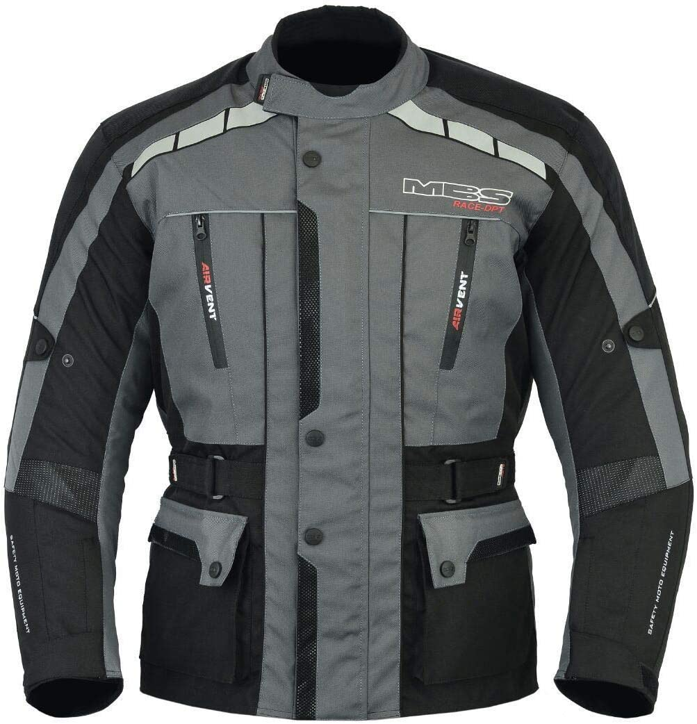 Antracita, S MBSmoto MJ-21 James Motorcycle Bike Textile Touring Racing Chaqueta larga impermeable para hombre de Cordura
