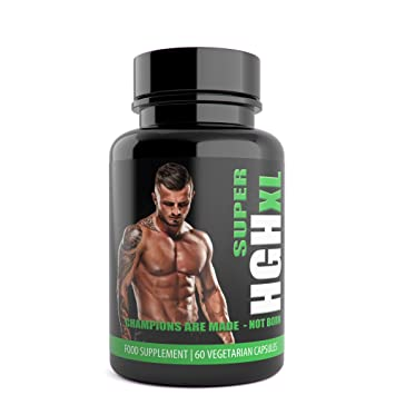 Super HGH XL 60 Vegetarian Capsules 1 Month Supply UK Manufactured from  Natural Answers Ingredients Include: Tribulus Terrestris Extract,  L-Arginine,