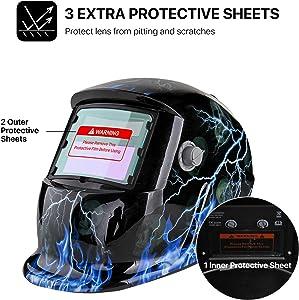 Flexzion Welding Helmet Auto Darkening Mask Hood