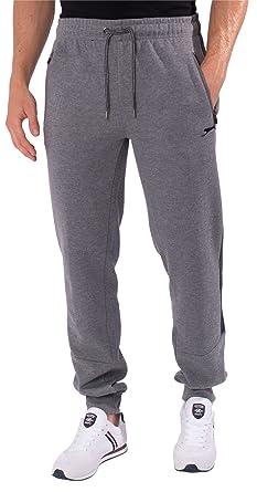 Slazenger - Pantalones de chándal para Hombre con Dobladillo Gris ...