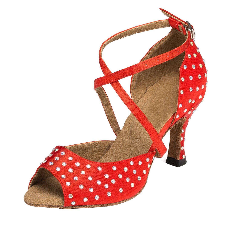 Minitoo cristaux Sandales pour femme en Satin pour danse red mariage fête-Chaussures Sandales Latin écoles de danse red 38e4acb - epictionpvp.space