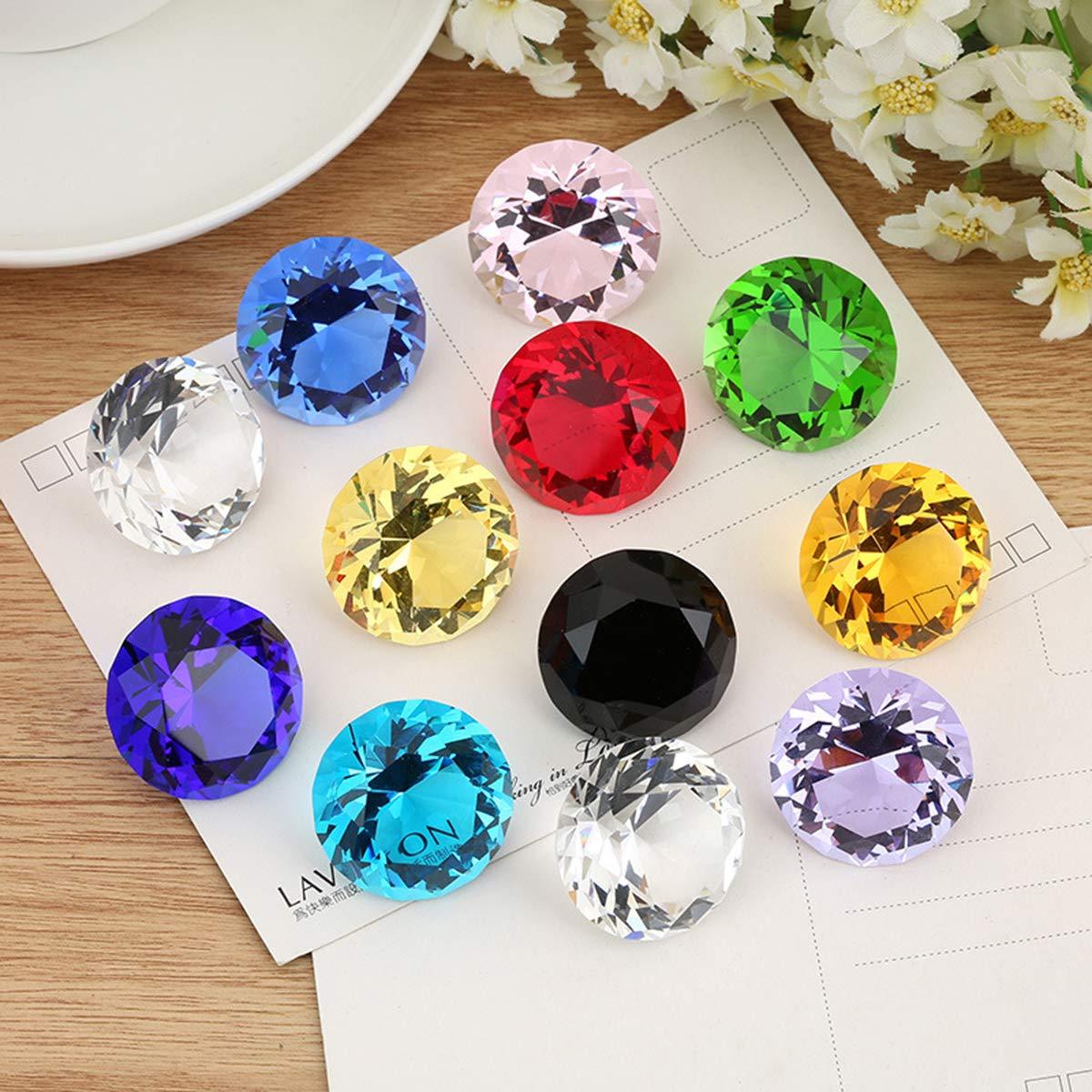 Yunnyp adornos de cristal de circ/ón 12 piezas 30 mm cristal pisapapeles joyas regalos