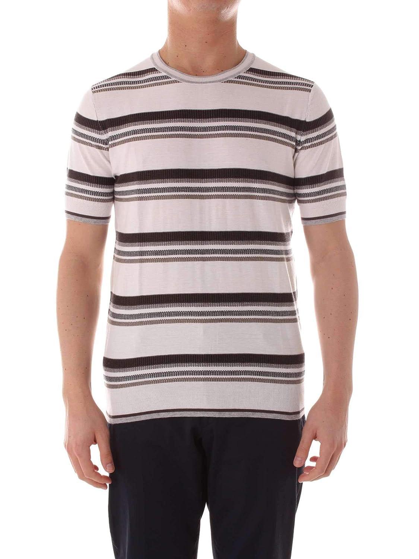 Brand Size 2XL PAOLO PECORA Men's C1M0A040F1000001 White Cotton TShirt