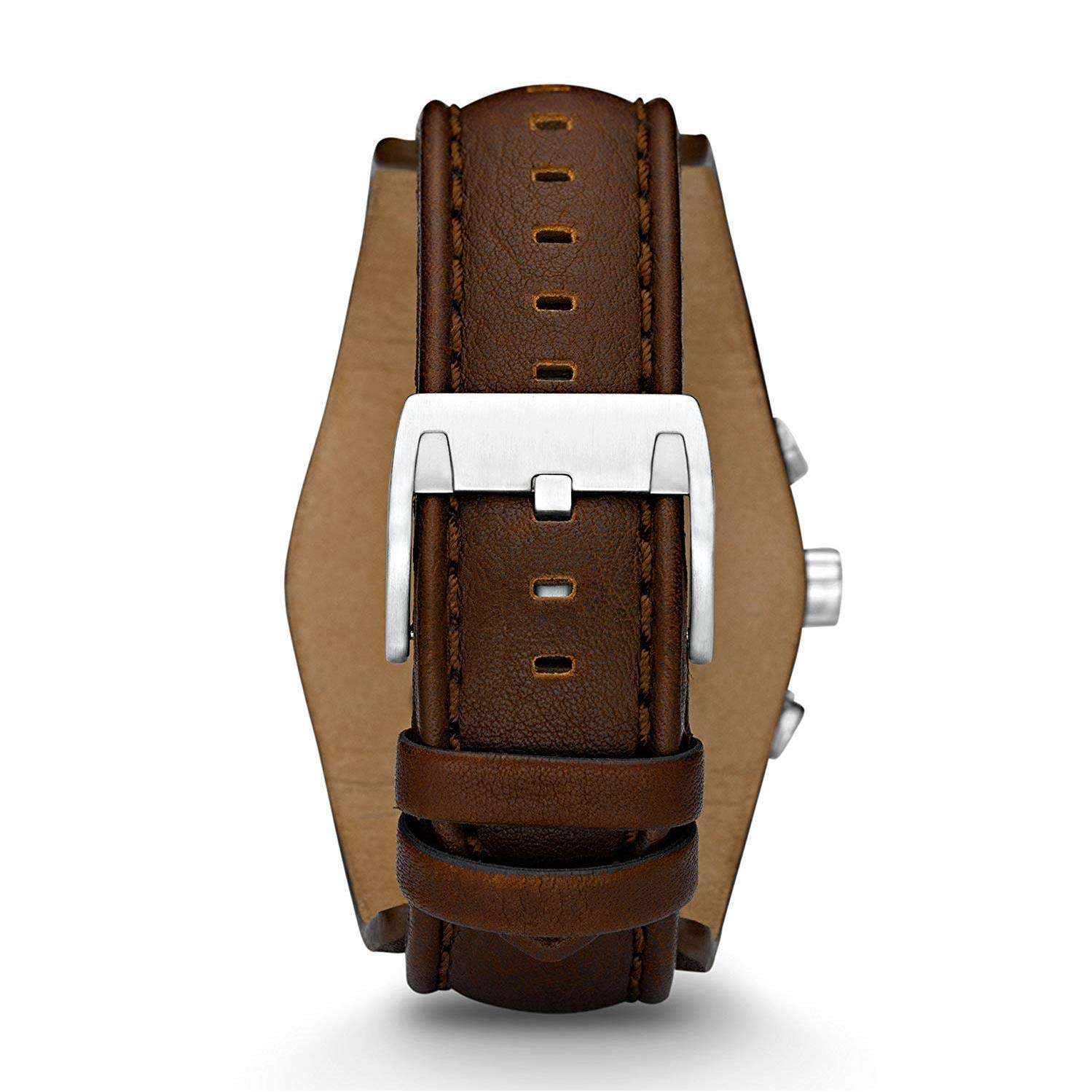 9b28d9141cc61 Fossil watch strap CH-2565 Leather Dark brown 22mm (Only watch strap -  WATCH NOT INCLUDED!): Amazon.co.uk: Watches