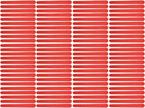 Disposable Nail File - 100 Pieces, Red