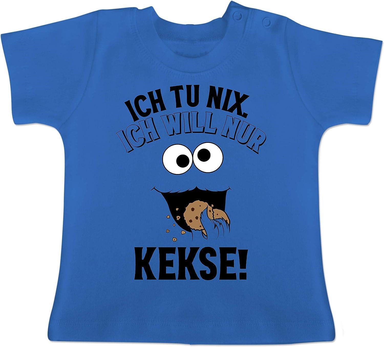 Ich tu nix Ich Will nur Kekse! Shirtracer Baby T-Shirt Kurzarm Spr/üche Baby schwarz