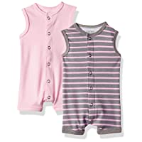 Ultimate Baby Flexy 2 Pack Sleeveless Rompers