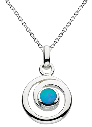 Dew Women's Sterling Silver Spiral Necklace of Length 18 inch hVelU