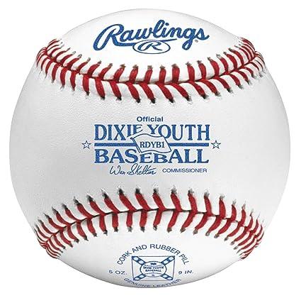 Rawlings Raised Seam Baseballs, Dixie Youth League Competition Grade  Baseballs, 12 Count, RDYB1