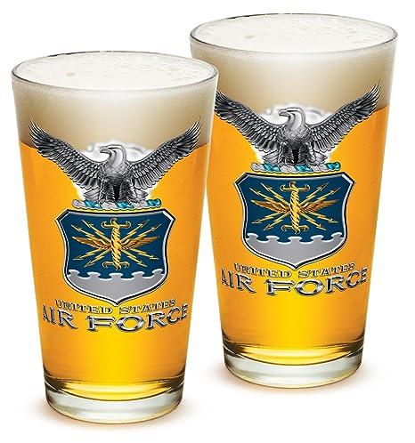 Amazon.com: Vasos de Pinta – USAF American Hero de regalos ...