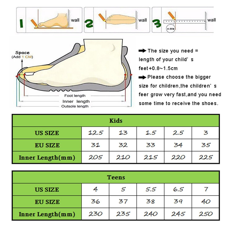 Kids Hiking Shoes Trekking Walking Snow Boots Antiskid Steel Buckle Sole Waterproof Winter Outdoor Climbing Cotton Sneaker.HS-8032-Y-37,5 M US Big Kid(Foot Length=23.5cm),Yellow by Littleplum (Image #7)