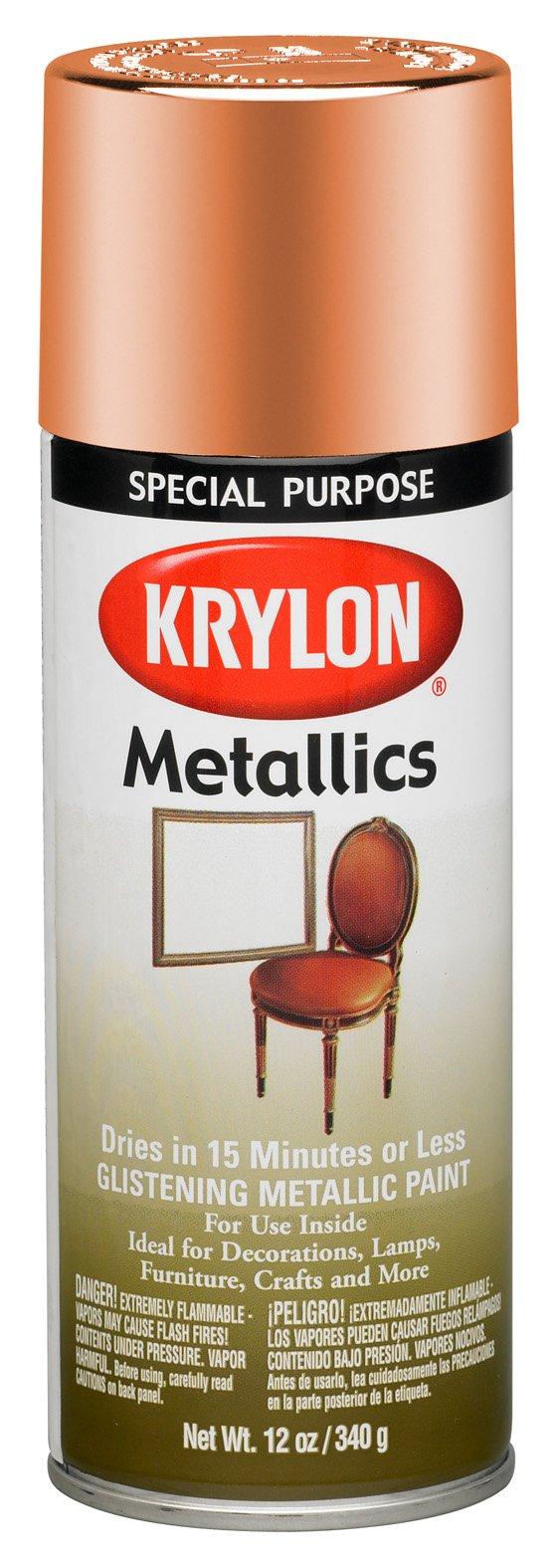 Krylon 1709-6 PK Copper Metallic 12 Ounce Aerosol, (Case of 6) Metallic Paint