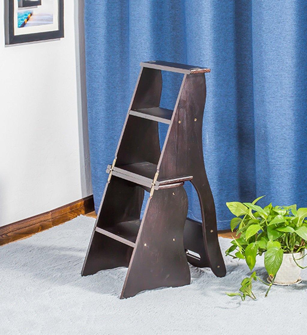 CAIJUN 椅子背もたれ階段4階スツール折りたたみ棚、高さ86cm、3色オプション (色 : B) B07DVXZ3JK  B