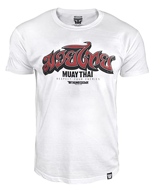 Muay Thai Respect Tu Enemies, MMA Camiseta - Blanco, Blanco, XX-Large: Amazon.es: Ropa y accesorios