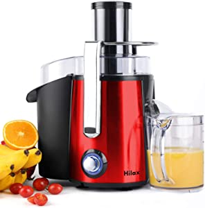 "Juicer Machines, Centrifugal Juicer Extractor, Electric Juicer Maker Fruit and Vegetable, Anti-slip juicers easy to clean, 3"" Feed Chute, Stainless Steel, BPA Free(Red)"