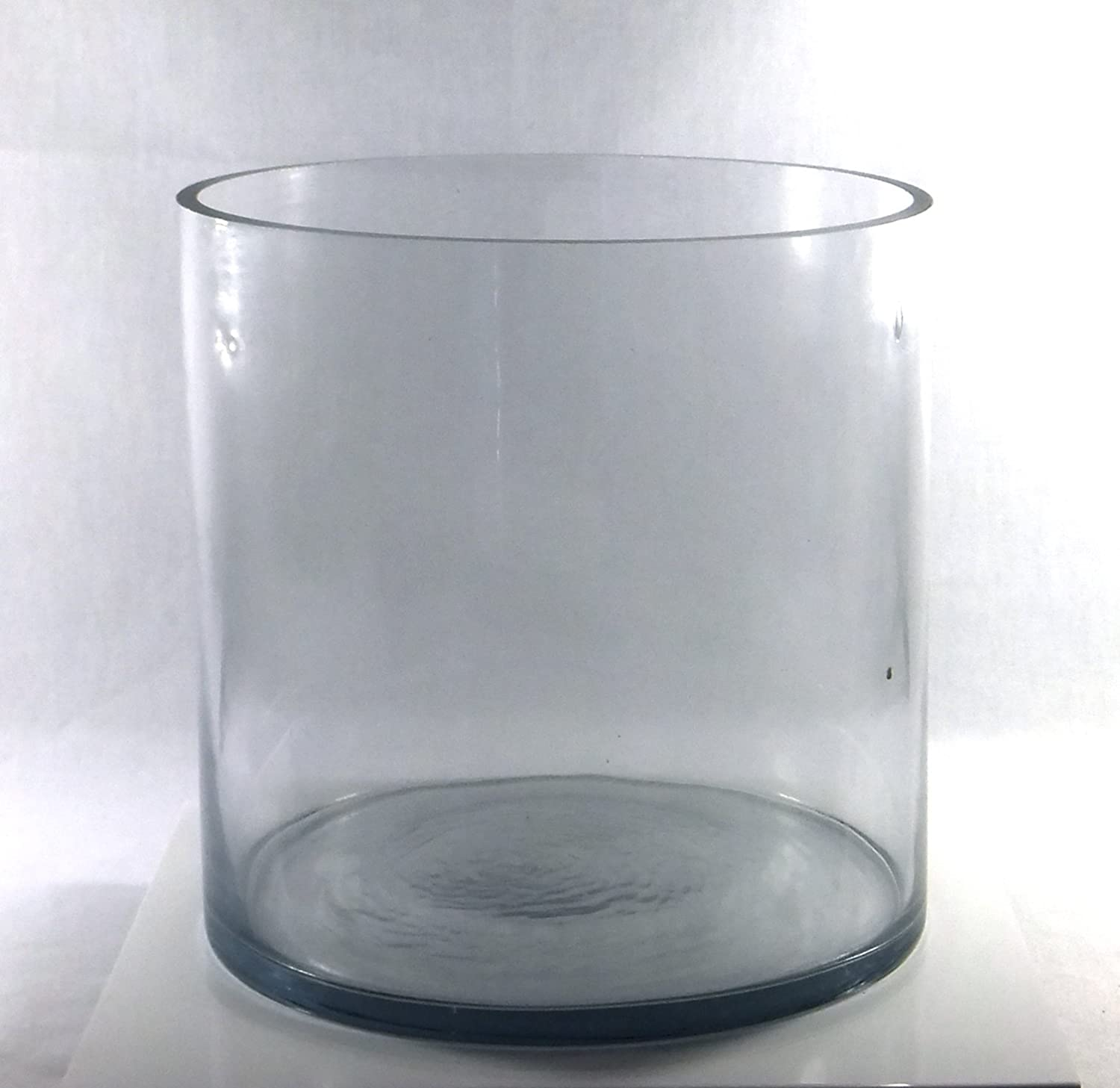 Amazon 8 inch round large glass vase 8 clear cylinder amazon 8 inch round large glass vase 8 clear cylinder oversize centerpiece 8x8 candleholder home kitchen reviewsmspy