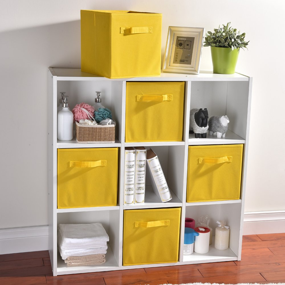 Wtape Practical Foldable Cube Storage Bins, 2-Pack Fabric Drawers, Yellow by Wtape (Image #3)